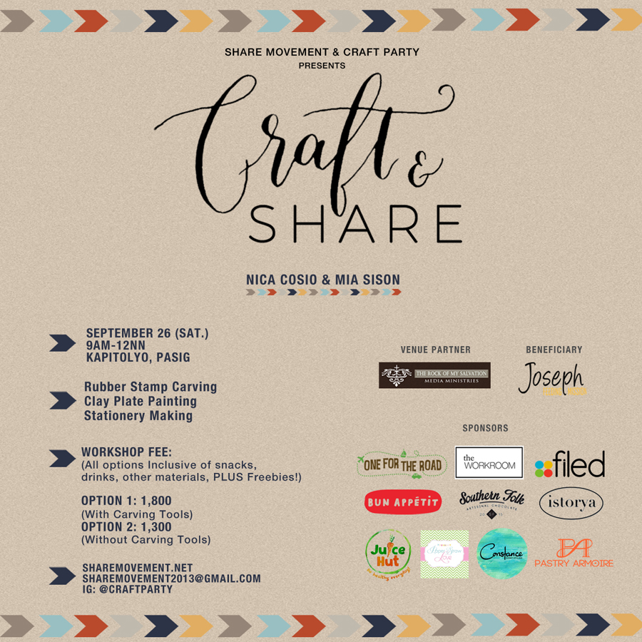 Craft Party Poster with Sponsors